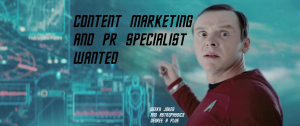 Content marketing and pr specialist job